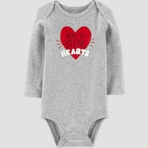 Baby Girls' 'Here To Steal Hearts' Bodysuit 3M